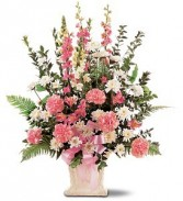 Pretty in Pinks Sympathy Arrangement