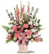 Pretty in Pinks Sympathy Arrangement