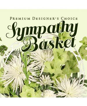 Sympathy Floral Basket Premium Designer's Choice in Hillsboro, OR | FLOWERS BY BURKHARDT'S