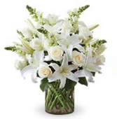 Peaceful White Lilly Sympathy Flower Delivery