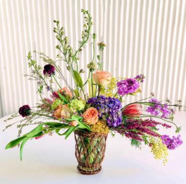 Sympathy Fresh Flower Arrangement  Fresh Flowers