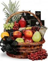SYMPATHY FRUIT & GOURMET BASKET