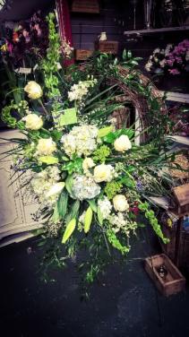 Sympathy Grapevine Wreath Standing Spray