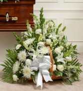Sympathy in White Basket