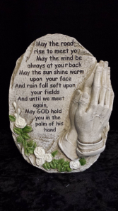 Sympathy Inspirational Stone Can be added to a floral arrangement.