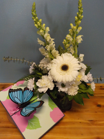 Sympathy LovePop flowers and card