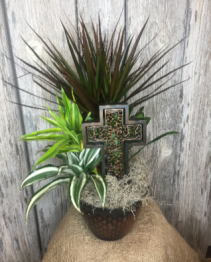 Sympathy Plant with Cross
