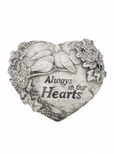 Sympathy Plaque - Always In Our Hearts