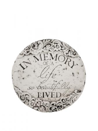 Sympathy Plaque - In Memory of a life