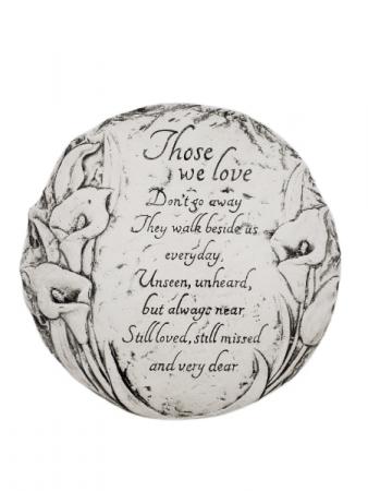 Sympathy Plaque - Those We Love Don't Go Away