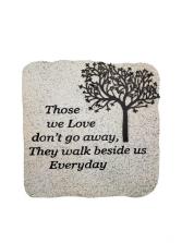 Sympathy Plaque - Those We Love Don't Go Away Tree