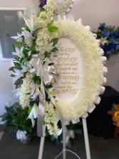 Sympathy Psalm 23 Silk Funeral Arrangement
