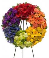 Sympathy Rainbow Wreath