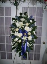 Free Spirit Standing Spray Sympathy Floral Arrangement