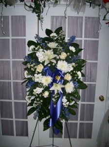 Free Spirit Standing Spray Sympathy Floral Arrangement