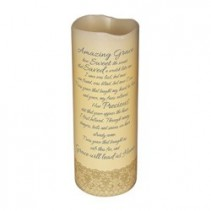 Sympathy Tribute Amazing Grace Candle