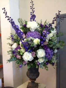 Sympathy Tribute in Purples  Sympathy tributes  in Oakville, ON | ANN'S FLOWER BOUTIQUE-Wedding & Event Florist