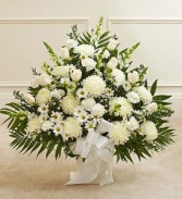 Sympathy White Basket