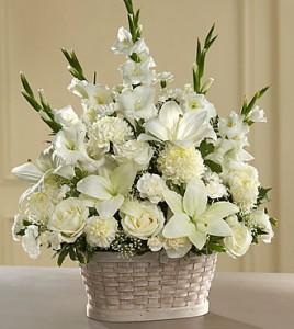 sympathy white flowers