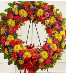 Sympathy Wreath in Fall Colors Standing Spray