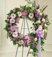 Sympathy Wreath Purple