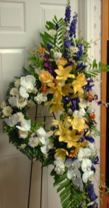 Hands of Glory Wreath 2529a Standing Sprays in Houston, TX | EXOTICA THE SIGNATURE OF FLOWERS