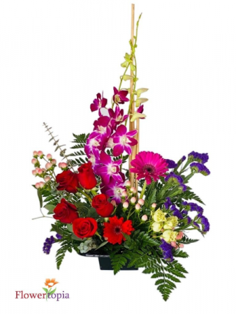 Symphony Flower Arrangement In Miami Fl Flowertopia