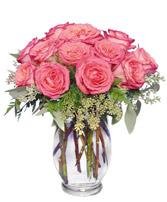 Symphony In Roses Coral Floral Vase