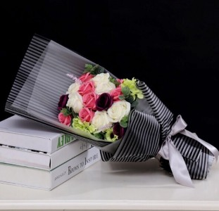 Symphony of roses  Hand bouquet
