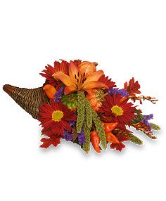 Bountiful Cornucopia Thanksgiving Bouquet