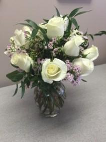 White Rose Remembrance Floral arrangement