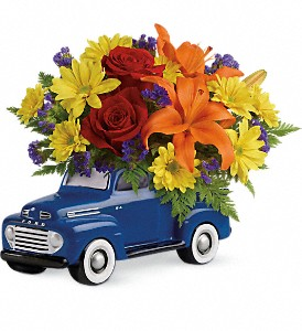 T16F100A Vintage Ford Pickup Bouquet by Teleflora