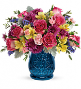 T19E205C Teleflora's Burst Of Blue Bouquet PM