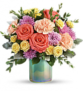 T19E305A Teleflora's Pastel Shimmer Bouquet Standard