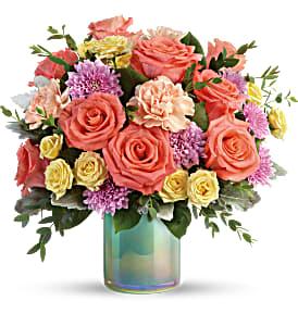 T19E305C Teleflora's Pastel Shimmer Bouquet PM