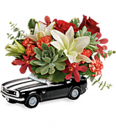 T19F105B Teleflora's Chevy Camaro Blooming Bouquet