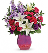 T19M100C Teleflora's Regal Blossoms Bouquet PM Novelty Vase