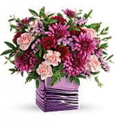 T19M400A Teleflora's Liquid Lavender Bouquet Cube
