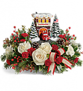 T19X205A Thomas Kinkade's Hero's Holiday Bouquet