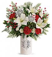 T19X305A Teleflora's Festive Flurries Bouquet