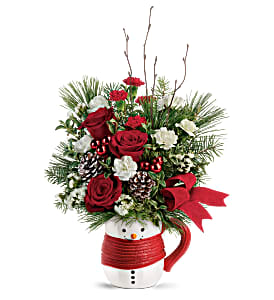 T19X505A Send a Hug Festive Friend Bouquet by Tele