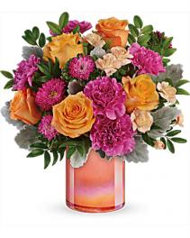 T20E300B Teleflora's Perfect Spring Peach Bouquet