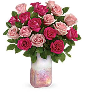 T20V210B Teleflora's Rose Quartz Kisses Bouquet DX