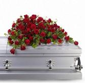 T225-3A Red Rose Reverence Casket Spray
