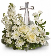 T229-2A Teleflora's Divine Peace Bouquet Crystal Cross