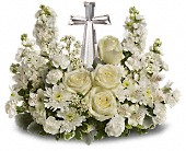 T229-2C Divine Peace Crystal Cross Easter, Funeral