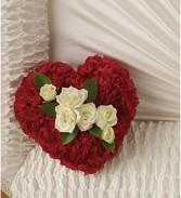 In Casket Lid Heart  Casket lid cover