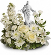 T278-3A Teleflora's Forever Faithful Bouquet Porcelain Jesus