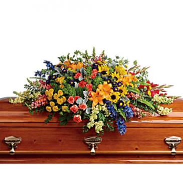T282-5A Colorful Reflections Casket Spray