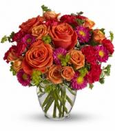 T46-1B How Sweet It Is DX Vase Arrangement